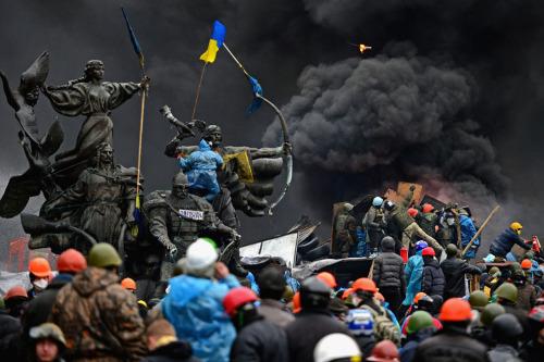 whattheendoftheworldlookedlike:  Kiev, Ukraine, February 20, 2014.