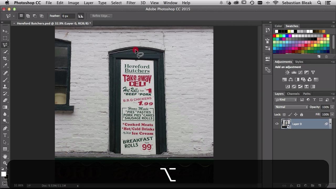 Adobe Photoshop Polygonal Lasso Tool