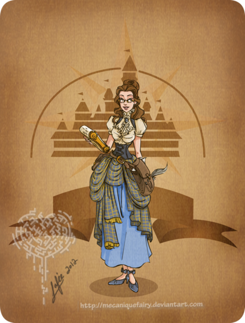 cattermon:  Disney steampunk: Belle by *MecaniqueFairy on deviantARTบน@weheartit.com-http://whrt.it/10XQ3pB