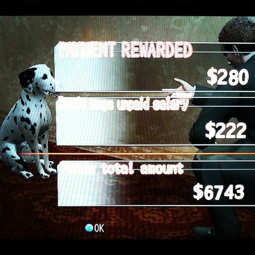 York and a Dalmatian. #deadlypremonition #vidya #videogames