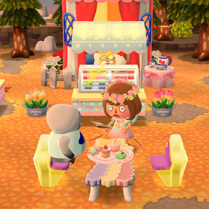 You want to order the whole menu!? #animal crossing#Pocket Camp#mine