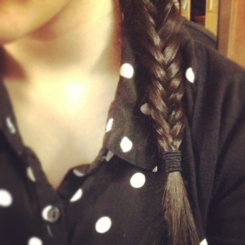It's a #fishtail #polkadots kind of day.