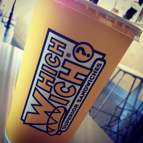 You guys gotta try the banana pineapple shake at Which Wich?! It's hella bomb! #whichwich #milkshakes #banana #pineapple #foodeverywhere #toomuch #curtner #theplant #bomb #cloggedarteries  (at Which Wich Superior Sandwiches)