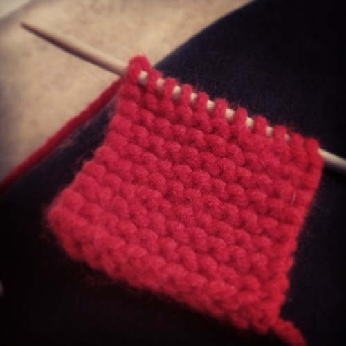 knitting! #justlearning
