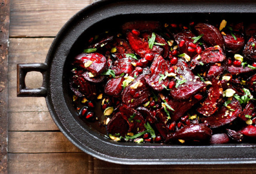 Recipe: Moroccan Roasted Beets with Pomegranate Seeds