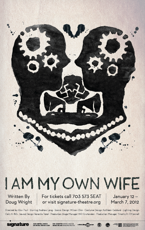 Julie M Frey 'I Am My Own Wife' is an award winning one-man show based on the life of one transvestite's struggle in Nazi Germany.