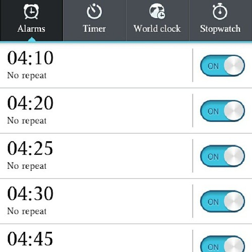 Greetings to my new alarms. #downsidetomoving