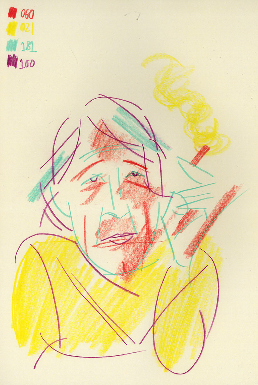 Sketch of Peter Saville
