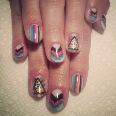 elsalonsito:  Colorful gel manicure. #nailart #nails #nailaddicts #naillife #nails #gelnails #elsalonsito