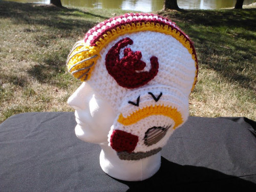 X-Wing Crochet Helmet Created by Colleen Hanauer Available for $60 USD at Etsy.