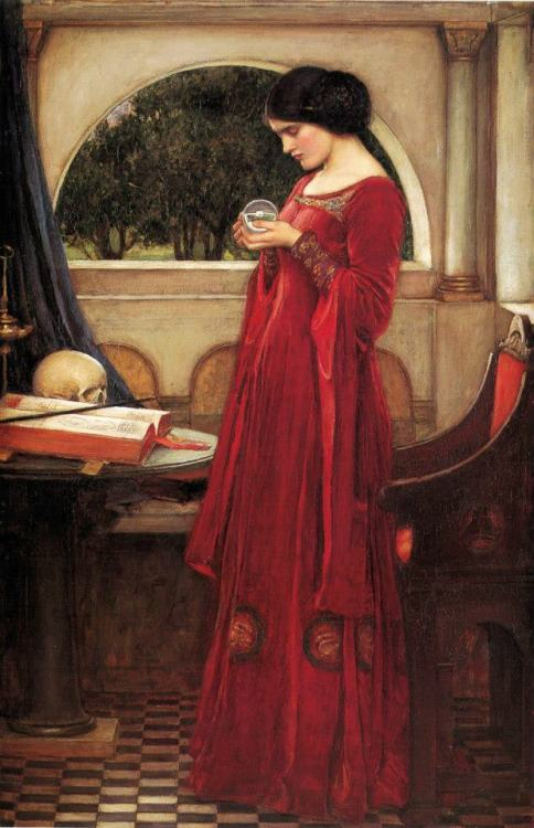 lover-of-the-starkindler:  The Crystal Ball by John William Waterhouse