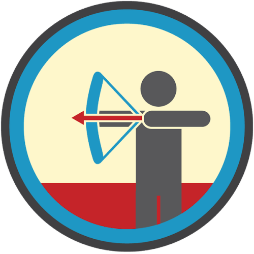 lifescouts:  Lifescouts: Archery Badge If you have this badge, reblog it and share your story! Look through the notes to read other people's stories. Click here to buy this badge physically (ships worldwide). Lifescouts is a badge-collecting community of people who share real-world experiences online.