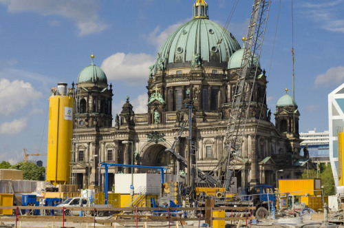 Under Construction. Berliner Schloss in front of the Dom 2013. Taken in Mitte, 2013. Danilo Sierra