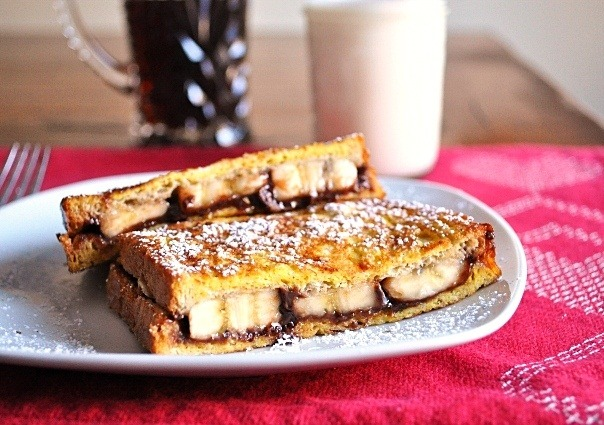 tastebudswag:  Banana Nutella Stuffed French Toast