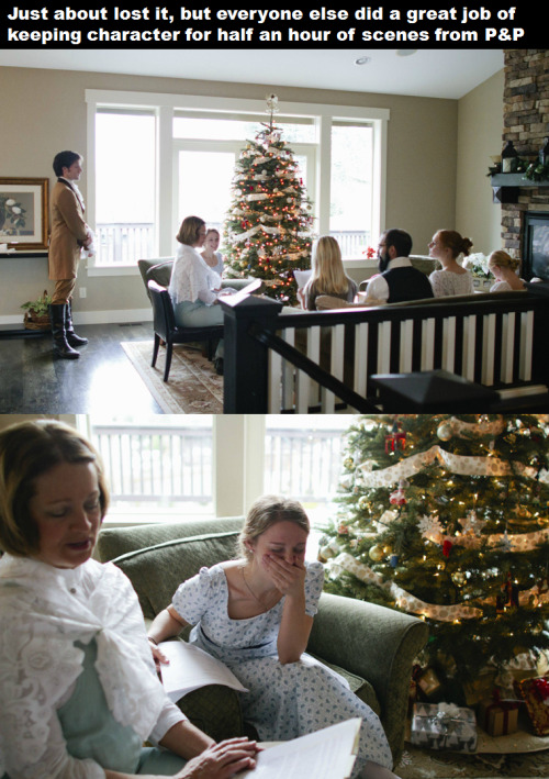 """theblacklacedandy:  bead-bead:  thestraggletag:  seiphirai:  A Surprise Pride and Prejudice Engagement (Note: This isn't me)  See? This is a tailor-made proposal. Not some """"big screen of basketball game nonsense. This person took into account his girlfriend's pastimes and favourite things in the world, knew how close to the family she was and engineered the perfect engagement proposal, without a doubt managing to make sure this would please her (surely her mother and sisters would know). This is how you do big gestures.  This is so awesome I can't even.  Also, the look on her face as she came into the house. Hehehehehehe!  STILL THE MOST ADORABLE THING EVER"""