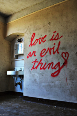 graffquotes:  Love is an evil thing