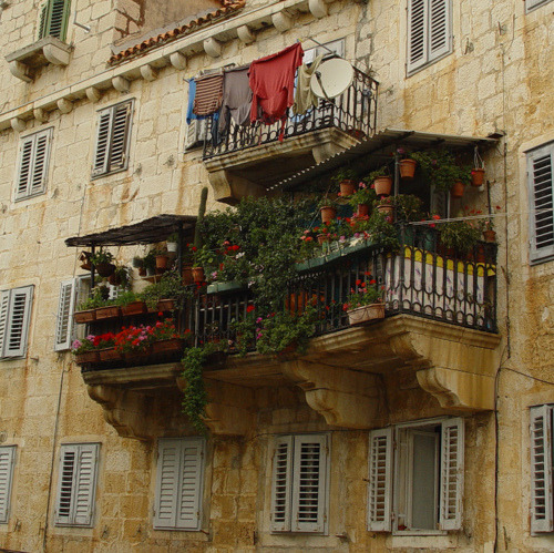 Garden Balcony, Brac Island, Croatia photo via lisa