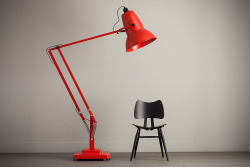 Anglepoise Giant 1227 Floor Lamp  that's not a miniature chair. it is an Anglepoise Giant lamp - three times the size of the regular lamp. awesome. price also awesome.