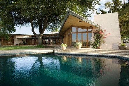 Wright stuff: I want: Frank Lloyd Wright's 1955 Fawcett Ranch House in California. It *is* for sale. The property's sales site is worth a look, especially the slide shows: http://www.fawcetthouse.com/