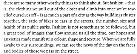 "Rogers, Damian. ""Breaking the mirror: How to look at fashion in Toronto"". uTOpia: The State of the Arts. Eds. Alana Wilcox, Christina Palassio, Jonny Dovercourt. Toronto: Coach House Books, 2006. 82-89."
