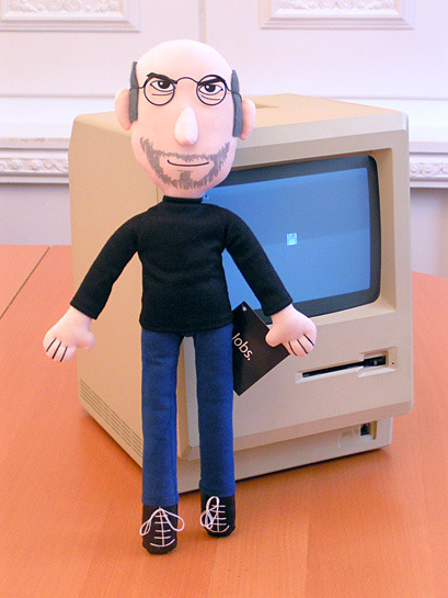Plush Steve Jobs: I was tempted. Briefly. Limited run of 500.