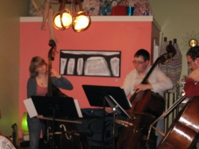 Bass Quartet performing at Cup of Joe