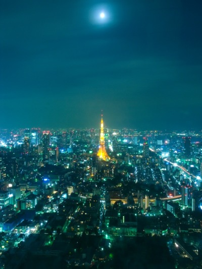 Flickr Photo Download: 東京タワーと月(Tokyo tower & the moon)