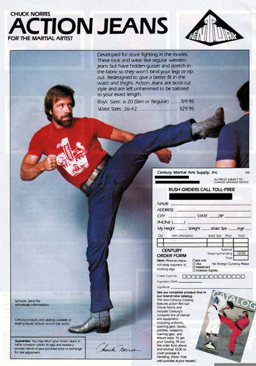 Chuck Norris Action Jeans Chuck Norris refuses to fake a kick, ...