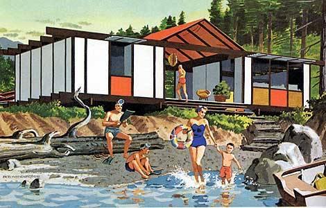 mid century modern home plans (via mirza)