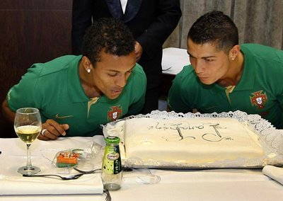 ronaldo and nani are really, really, good friends.