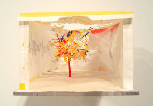 McDonald's paper bag cut-out from Yuken Teruya's Notice-Forest series.