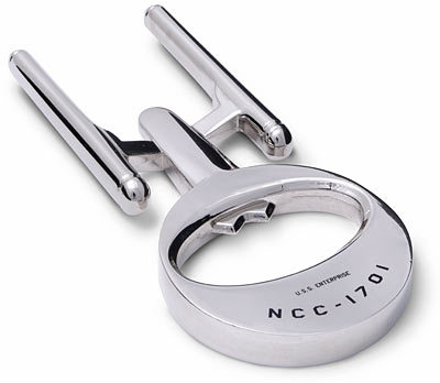 nerdology:  Enterprise Bottle Opener [CoolestGadgets purchase at ThinkGeek]  Want. Though they wouldn't need this on the Enterprise considering their food materializes out of nothing.
