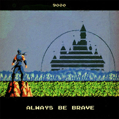 "Ninja Gaiden motivational poster by 9000. Really, there's no way we couldn't feature this painting, what with this being (kind of like) our footer and all. And of course, we also must admire Levi ""Doctor Octoroc"" Buffum's bead recreation of the same scene:  [Via Offworld]"