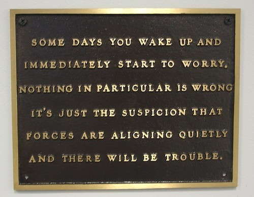 MoMA | Jenny Holzer. Living: Some days you wake and immediately… 1980-82