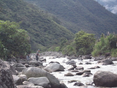 Fishing in the Andes.  Near Rio Verde Ecological Preserve, Tungurahua, Ecuador, June 2, 2009.