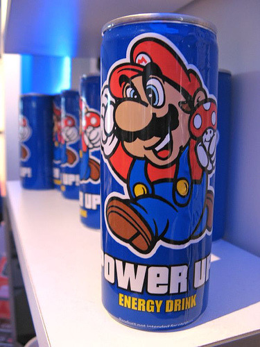 yes, there is a mario energy drink (via Scuzzi)