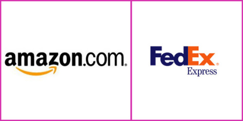 "2 Examples of hidden messages in famous corporate logos: Amazon Logo This famous logo is extremely clean and simple, with the arrow making no sense to you. But if study it carefully, it says that amazon.com has everything from a to z and it also represents the  smile brought to the customer's face. FedEx Logo This is the last FedEx logo designed by Lindon Leader.There's a hidden white arrow between ""e"" and ""x"" letters, symbolizing the ""movement"". more logos here   I had never picked up on these before. via savvymac: lickystickypicky"