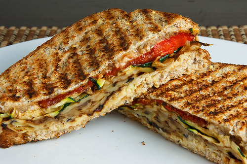 (via StrawMan3125) Roasted Vegetable Panini