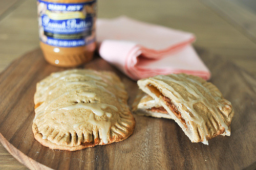 gluttonyisabliss:  (via Celine S.) Peanut butter jam pastries with icing