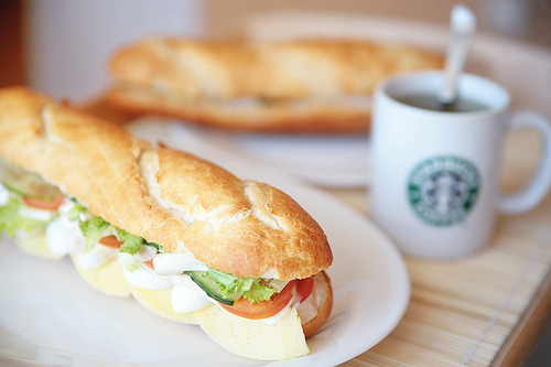 (via nadia_bolshakova) Breakfast sandwich