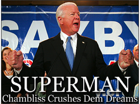 FoxNews Channel's website's nuanced characterization of Sen. Chambliss' reelection in Georgia.