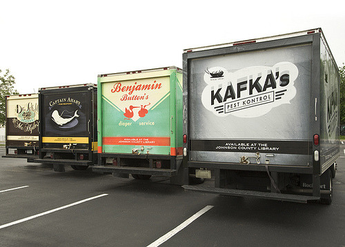 tumbledore: Four literary themed trucks are part of a new ad campaign for the Johnson County Library. Officials hope the trucks will spark interest and bring even more readers to their doors.
