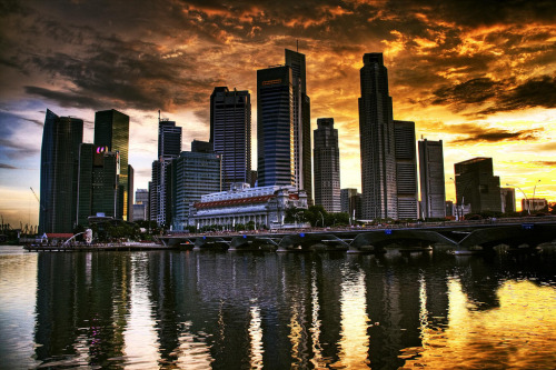"""Burning Sky"" - Singapore from HarryBo73"