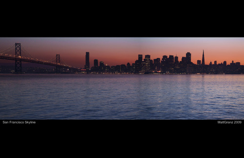 San Francisco skyline with Bay Bridge from Matt Granz