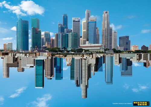 Western Union advertisement - Los Angeles to Singapore via Ads of the World