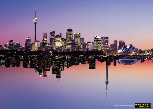 Western Union advertisement - Sydney to Toronto from Ads of the World