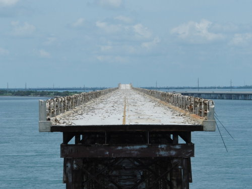 The before shot of the bridge. This is in the keys, it's the old bridge they used before they built the new one.