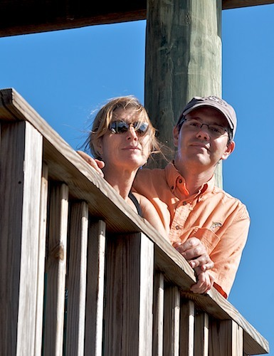 emileabbott:  Tony and Barbara at observation tower near Ponce Inlet Lighthouse