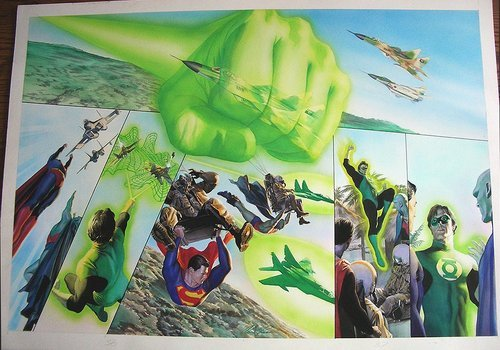 (via goldenfiddle) Alex Ross should do nothing but Green Lantern comics.