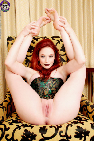 Red Head Slut With Creamy Skin Flexible Enough To Put Legs Over head!